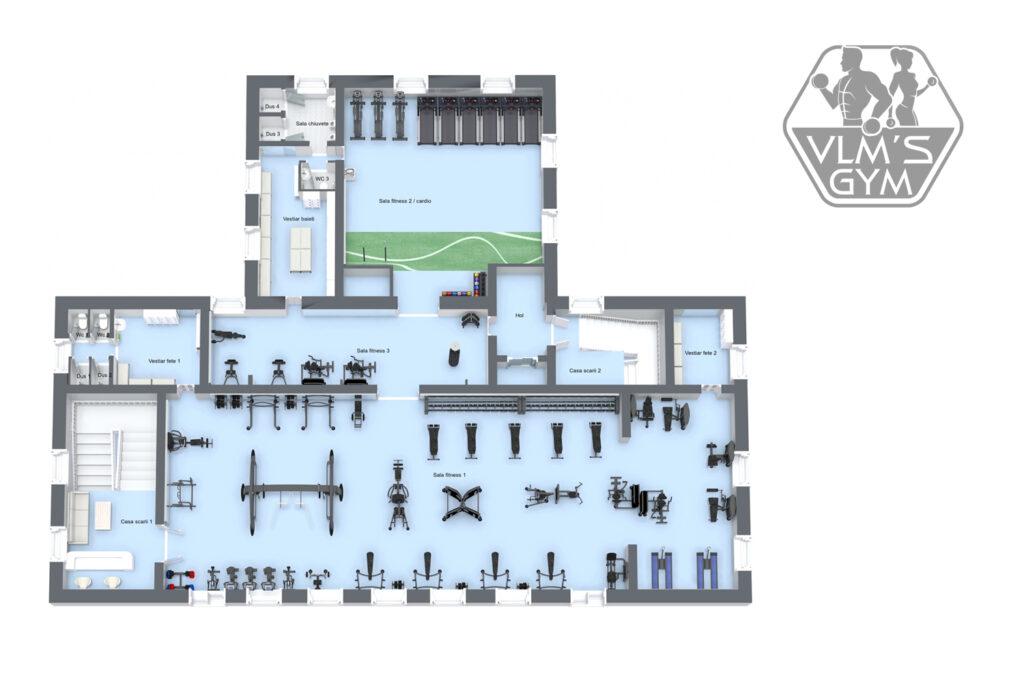 Sala de fitness si Gym Lupeni – VLMS GYM